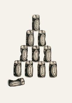 #linocut #beer #pyramid #handprinted #printmaking #jenniferament