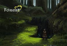 Concept art for the deep forest environment, welcoming or worrying? Heart Projects, Deep Forest, Environment Concept, Concept Art, Gaming, Painting, Character, Conceptual Art, Videogames