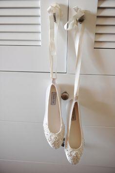 Ballet Slipper Bridal Shoes | Gavin Wade Photographers | TheKnot.com