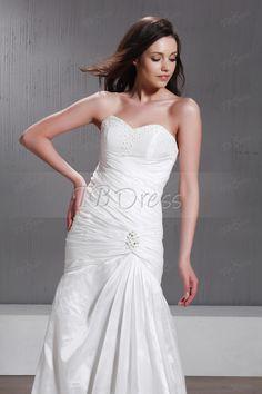 A Line Princess Strapless Chapel Sandra's Wedding Dress $84.29  tbdress.com