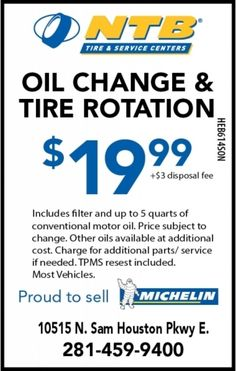 Ntb engine oil change wheelcoupons 1999oilchange 1999 oil change tire rotation ntb tire service centers fandeluxe Choice Image