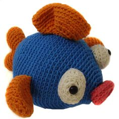 Fish Crochet Pattern ..... Add a third eye and you almost have Blinky from the Simpsons!