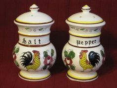 Rooster and Roses Salt & Pepper Set I don't have s&p like these