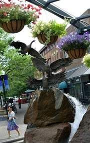 Old Town Square, Fort Collins, CO Graduated CSU. And loved this little town. Disneyland Main Street, Fort Collins Co, Old Town Square, My Town, Rocky Mountains, Places Ive Been, The Good Place, Life Is Good, Garden Sculpture