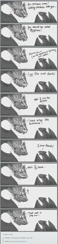 Smaug and Toothless sass off | How To Train Your Dragon | Hobbit