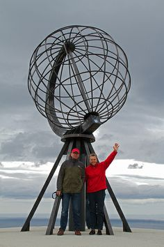 Poseren op de Noordkaap (Nordkapp) in Noorwegen - Hurtigruten met de MS Lofoten, aug. 2013 | Flickr - Photo Sharing!