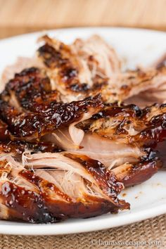 Crockpot Brown Sugar Balsamic Glazed Pork Tenderloin- so tender and the sauce is to-die-for!
