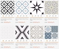 Best Home Decorating Magazine Peel And Stick Floor, Peel And Stick Vinyl, Stick On Tiles Floor, Floor Patterns, Tile Patterns, Bathroom Floor Tiles, Tile Floor, Hall Bathroom, Master Bathroom