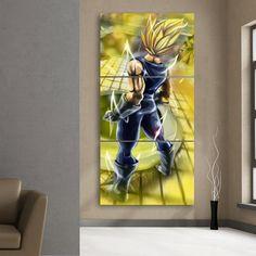 #Dragon #Ball #Vegeta #Powerful #Back #Portrait #3Pc #Canvas #Print – #Saiyan #Stuff