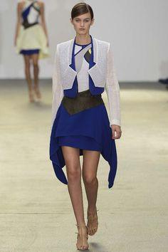 Interesting oriental inspiration?     By designer Antonio Berardifor London Fashion Week Spring 2013 RTW