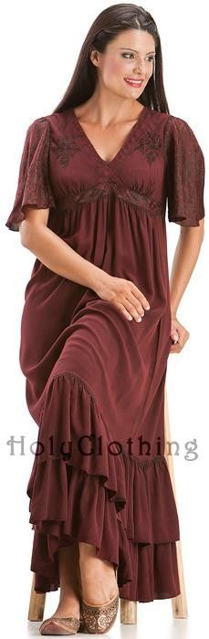 Shop Fleur Empire V-Neck Ruffled Gypsy Dress In Burgundy Wine: http://holyclothing.com/index.php/fleur-empire-waist-flutter-sleeve-v-neck-ruffled-gypsy-dress.html From $44.99. Repins are always appreciated :) #holyclothing #fashion