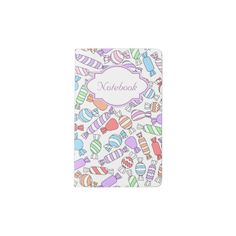 Pastel Candies Moleskine Notebook Cover #pastel #color #red #orange #candy #sweet #green #blue #cute #pink #notebook #stationery #zazzle #faerieshop