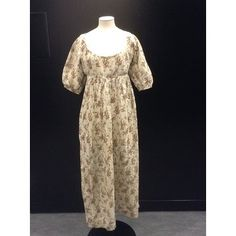 Day dress of printed cotton, England, Museum Number Victoria And Albert Museum, Plain Black, Day Dresses, Frocks, Printed Cotton, Regency, Womens Fashion, Prints, How To Wear