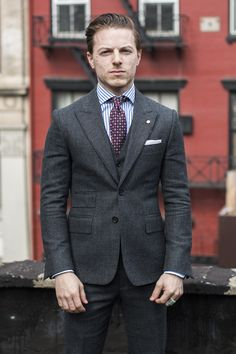 Dennis Thompson (suit & shirt by Billy Reid; tie by Thom Browne) via tsbmen.com