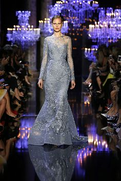Fall Winter 2014-2015: This gown is beautiful! I love the ice blue color with the silver embellishments. Perfect Ice Queen gown!
