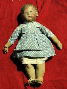 Kathe Kruse Girl Doll 1 Original Antique 1910 29 Early Model Wide Hips German | eBay