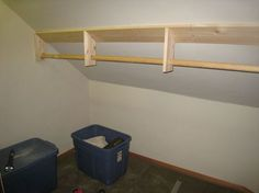 Modify this design for a more acute slope for older room closets