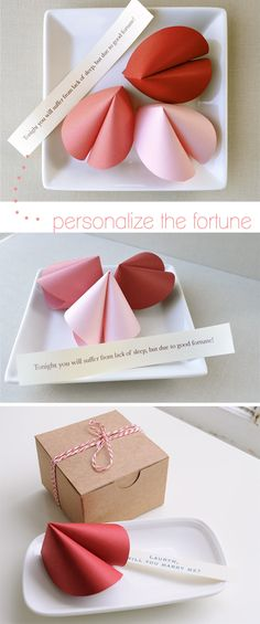 Personalized Fortune Cookies! Down and Out Chic: holiday