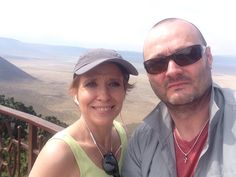 Steve and I at Ngoro crater
