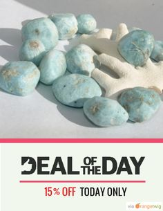Today Only! 15% OFF this item. Follow us on Pinterest to be the first to see our exciting Daily Deals. Today's Product: Dominican Larimar Caribbean Sea 14 cabs balls round beads Mix Rustic rough Precut Lapidary Dolphin cabochons pectolite boho stone 53g 265ct Buy now: https://orangetwig.com/shops/AABCLyV/campaigns/AAB2N4i?cb=2016001&sn=MyBeachStore&ch=pin&crid=AAB2N3w&exid=253652653