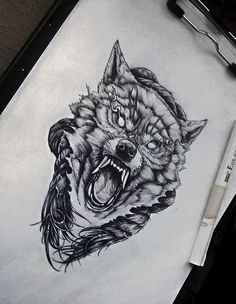 Sketches of future tattoos sketches of tattoos tetovanie, te Sketch Tattoo Design, Wolf Tattoo Design, Tattoo Sketches, Wolf Tattoo Sleeve, Chest Tattoo, Sleeve Tattoos, Tattoo Wolf, Black Ink Tattoos, Skull Tattoos