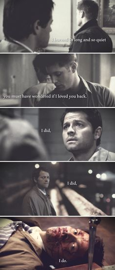 I burned so long and so quiet you must have wondered if I loved you back. I did, I did, I do. #spn