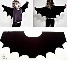 rainbowsandunicornscrafts: DIY Easy Bat Wing Shrug for Halloween from My Poppet here. Truebluemeandyou: Let the Halloween posts begin. (via rainbowsandunicornscrafts)