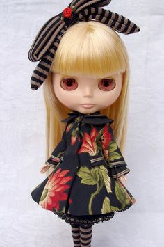 Alice in black | Blythe clothes for dolls : tutorial : Kikihalb ♧ Forest~Tales ♧