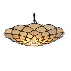 Searchlight Raindrop Vintage Non Electric Tiffany Ceiling Pendant Light with Brown Droplet 1468BR - Searchlight from The Home Lighting Centre UK