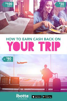 Taking a trip? Start with Ibotta and earn cash back every step of the way. Rides, Flights, Hotels, Restaurants, and more. No matter what your next adventure is, Ibotta helps you save throughout the entire trip. Download the free app today and get $10.00 just for trying.