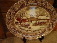 Vintage Johnson Brother's Historic America Platter