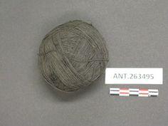 YPM ANT 263495 - Black yarn; ball of yarn, dyed using pond field mud and vegetable dyes-- qibayat qan napudun qan mangmangeteti; Field #E84.1345; Bayninan, Banaue, Ifugao, Philippines. Yale Peabody Museum of Natural History