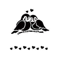 Vogeltjes hartjes.