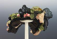 Evening Bonnet Made Of Silk, Linen And Jet, By Jean Hamilton - American   c.1895  -  The Metropolitan Museum Of Art