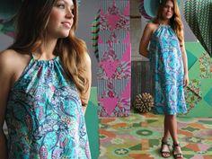 Sunburst Halter Dress   www.amybutlerdesign.com/products/fabrics_glow_top.php