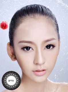 4de7a967e74 Smoky Color Simple Prescription Circle Cosmetic Contact Lenses Lace Barbie  Grey