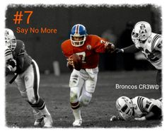 The greatest ever! Put any QB with more rings' cast around him and he would've gone to more than just 5 Super Bowls, won em all. Saw it when he won B2B... Take him before any other player to putty on s uniform... Original photo rights courtesy of Denver Broncos - (AP)