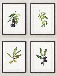 Schwarzen und grünen Oliven fein-Kunstdruck-Set mit 4. Grüne Olive Tree Aquarell. Küche Kunstdruck Frauen Geschenkidee. Essen Dekoration abstrakten minimalistischen Wall Decor. Oliven-Restaurant oder Küche Poster. Ein Preis ist für den Satz von 4 verschiedenen Olive-Kunstdrucke: 2 Grün / Goldene Oliven und 2 Black / Navy-Oliven. Art von Papier: Drucke bis zu (42 x 29, 7cm), 11 X 16 Zoll Größe auf Archivierung Säure frei 270g/m2 weiß Aquarell Fine Artpapier gedruckt und behält das Aussehen…