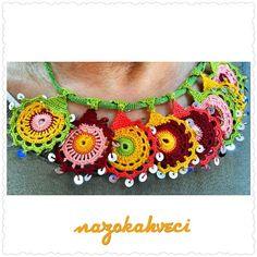 "259 Likes, 17 Comments - @nazokahveci on Instagram: ""#takı #kolye #aksesuar #tığişi #oya #bujiteri #pul #motif #moda #kadın #instalike #instamood…"""