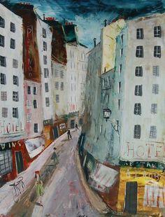 Charles Levier (French,1920-2003)  Rue à Paris, N/D