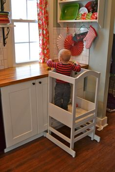 DIY Kitchen helper!  Great for those helpful toddlers!