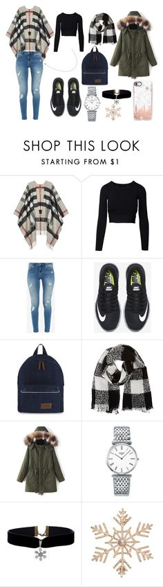 """Winter Things"" by esmeebetten on Polyvore featuring mode, Burberry, Ted Baker, NIKE, Barneys New York, Longines, John Lewis en Casetify"