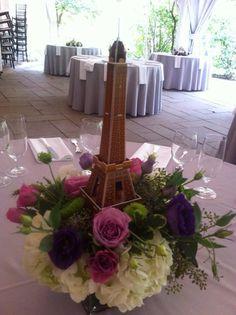 Paris theme arrangement