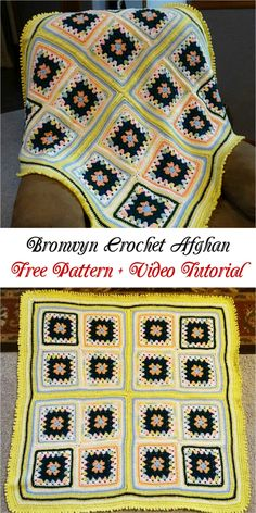 Bronwyn Crochet Afghan  Free Pattern + Video Tutorial: In this video you can find special tips and tricks with.. #crochet