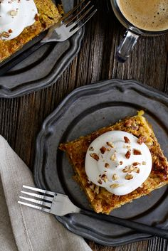 Pumpkin Crunch Cake is brimming with fall flavors. Top each slice with a dollop of whipped cream and chopped pecans to create the perfect pumpkin dessert.