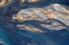 Фото недели: реки Исландии с высоты птичьего полета