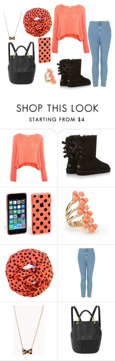 """""""Untitled #589"""" by sabrina-emo ❤ liked on Polyvore featuring beauty, Pull&Bear, UGG Australia, Kate Spade, Forever 21 and Topshop"""