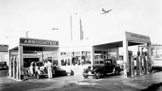 Old Gas Stations, Hotels and Car Hop Pics