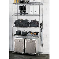 """Container Store Metro Commercial Studio Shelves - $275.20 each (buy 2 and add a shelf) 18"""" x 42"""" x 74-5/8"""" h"""