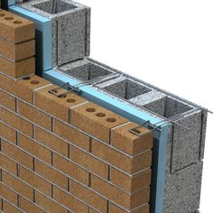 Building Structure, Building Materials, Building Design, Building A House, Construction Design, Construction Materials, Detail Architecture, Brick Laying, Brick Design